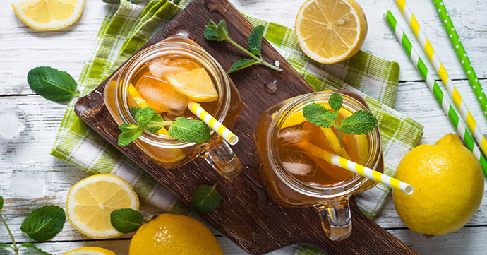 Iced Green Tea with Mint and Honey