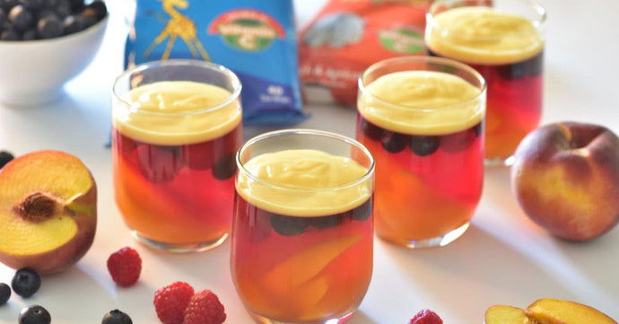 Tea4Kids + Peach & Apricot infused Fruit Jellies