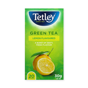 Tetley Green Lemon 20's