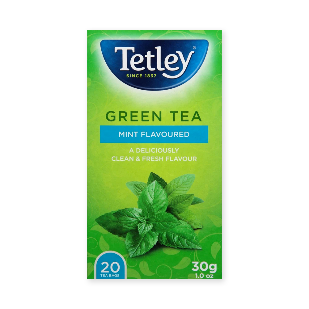 Tetley Green Mint 20's