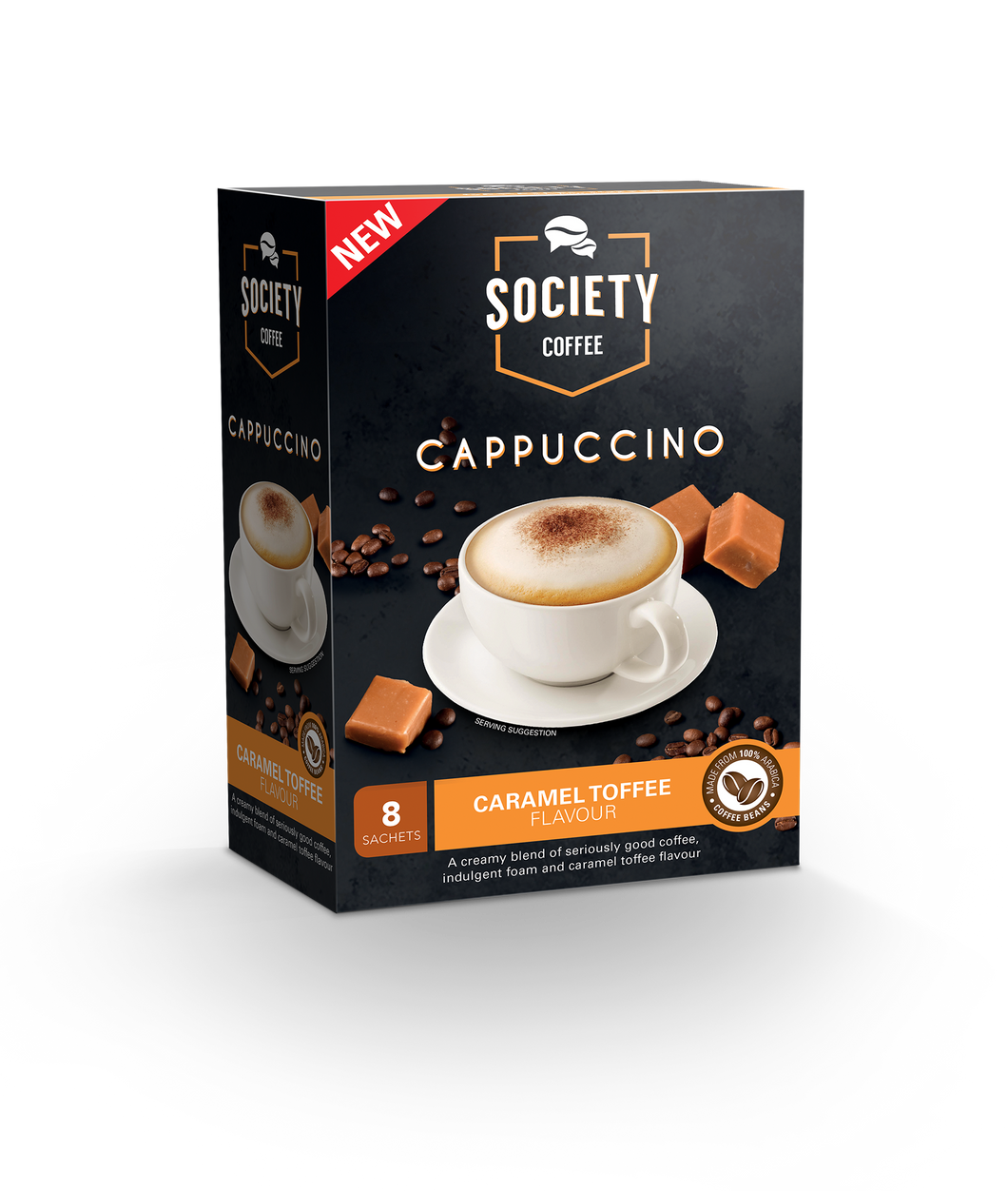 Society Cappucino - Caramel Toffee - Case of 10 Packs