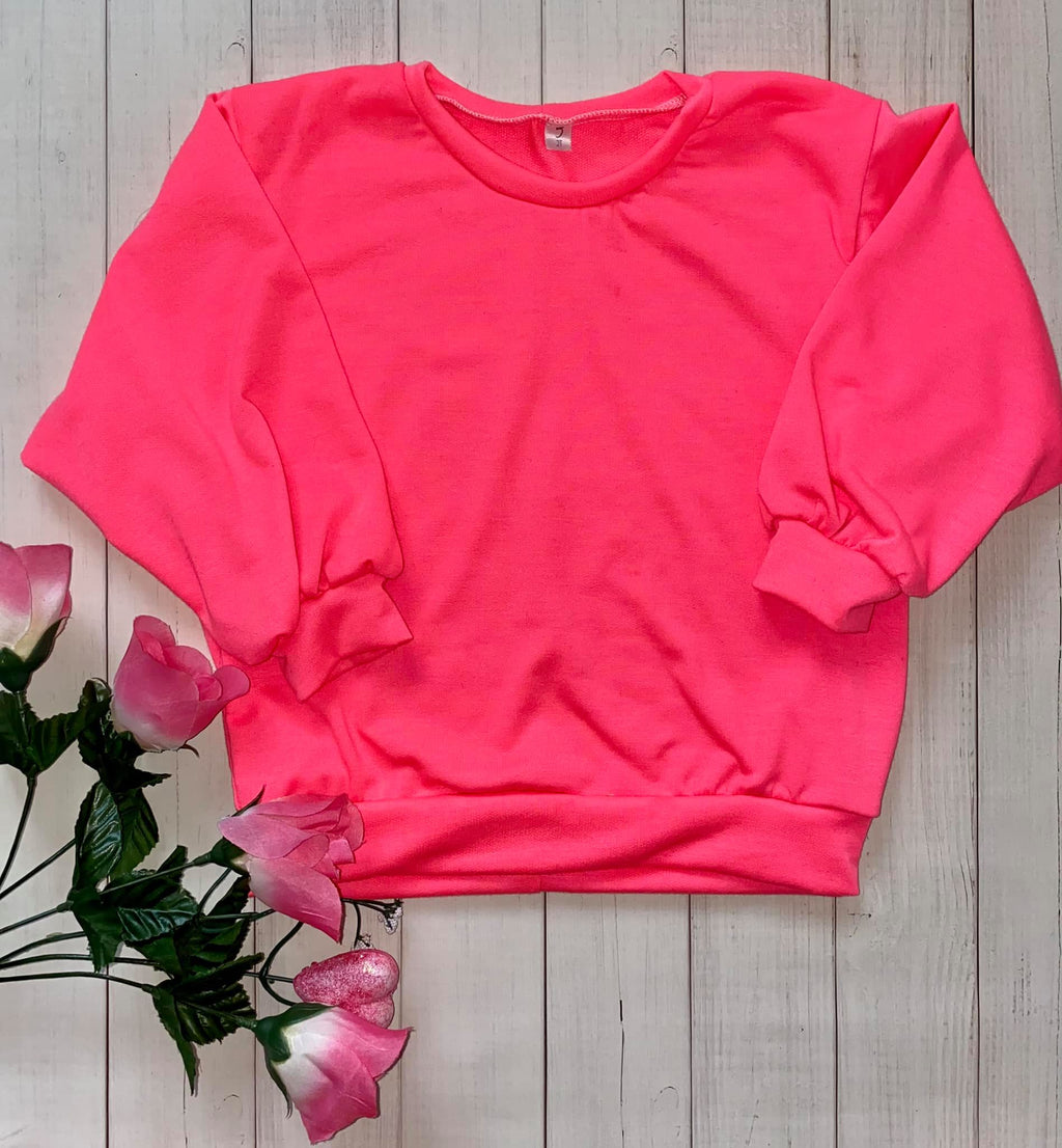 Hot Pink Slouchy Sweater