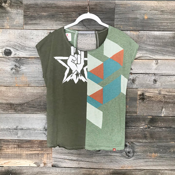 Rock Triangle Twofer Tee