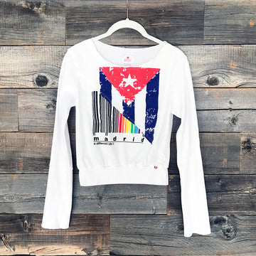 Cuba + Madrid Long-Sleeve Crop