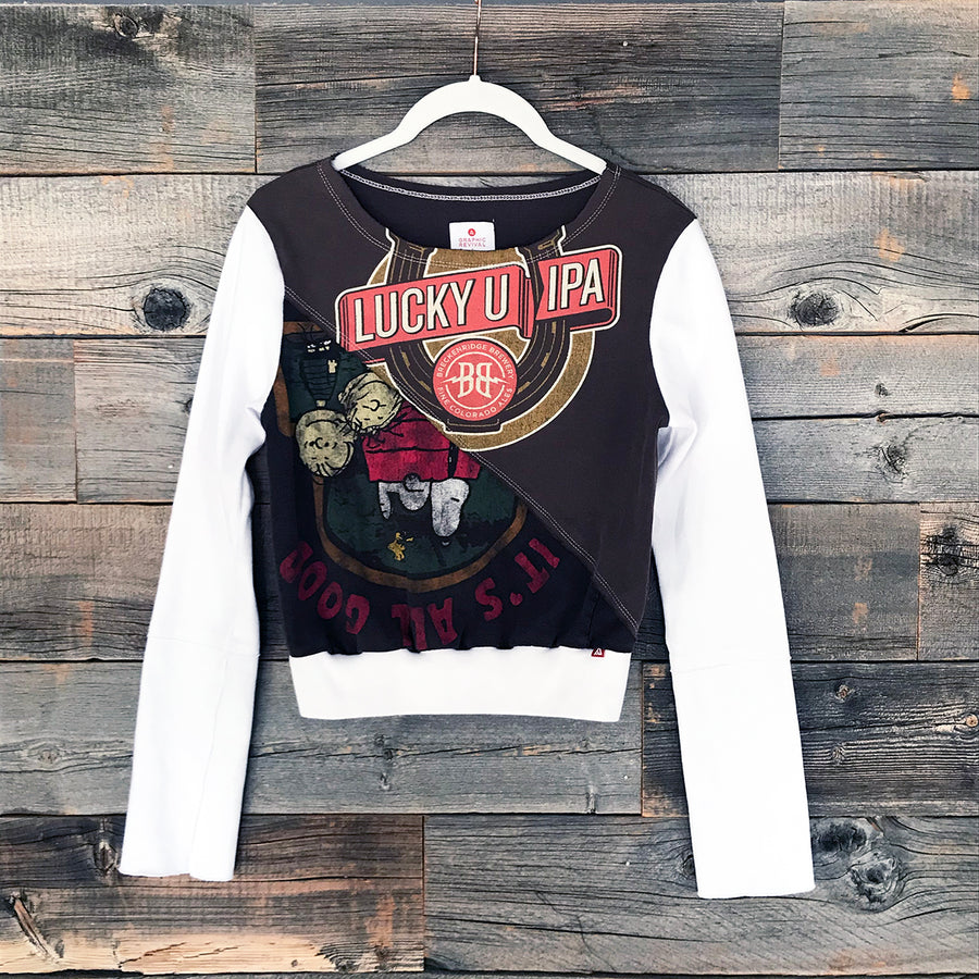 Lucky Peanuts Long-Sleeve Crop