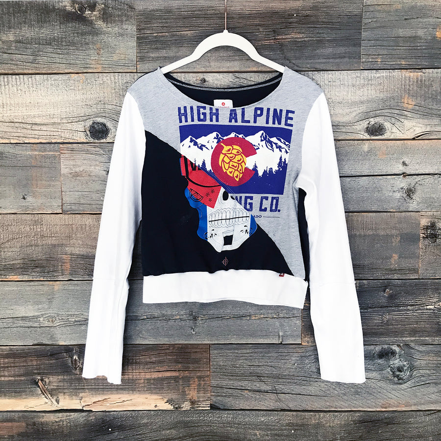 High Alpine + Skull Long-Sleeve Crop