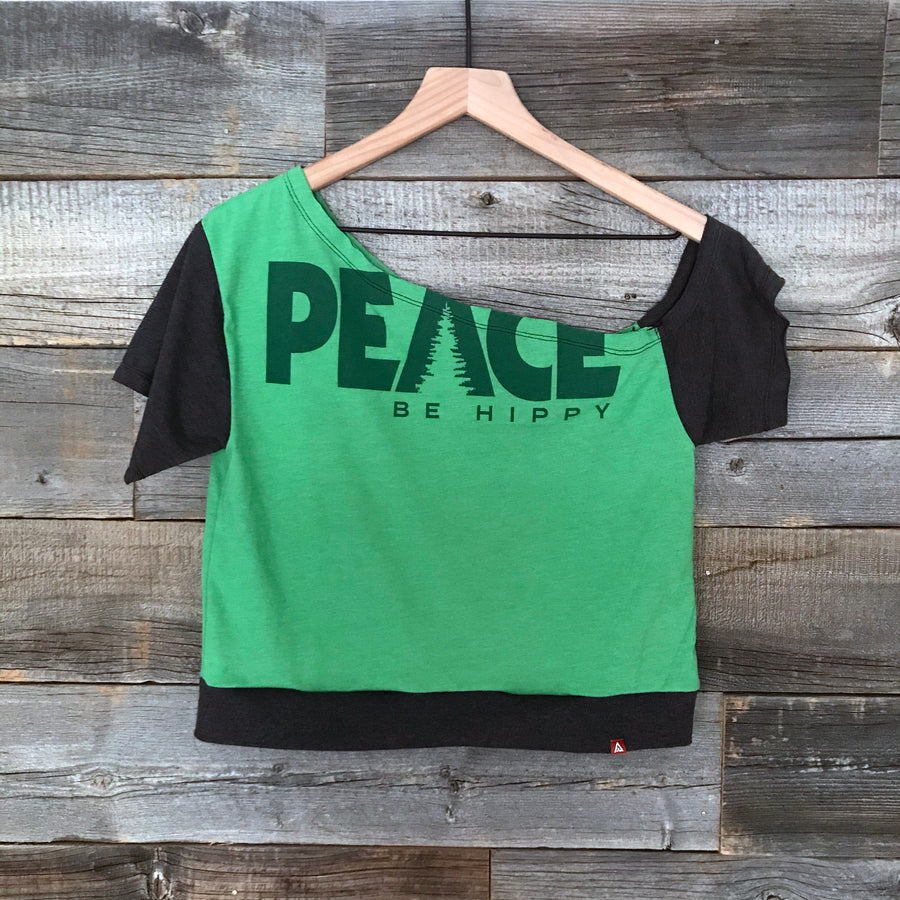 Peace, Be Hippy Summer Melt Crop Top