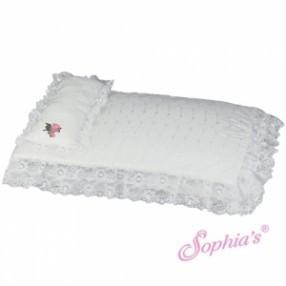 WHITE EYELET BEDDING SET