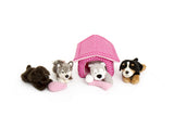 CUTE DOG AND KENNEL GIFT SET