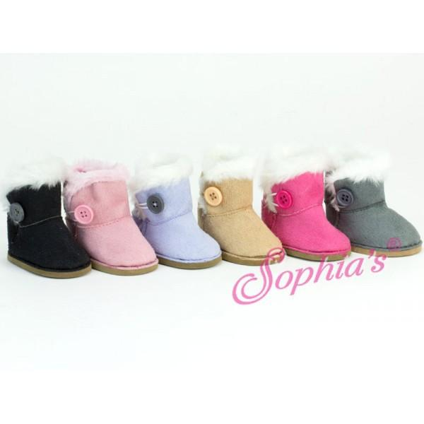 BUTTON EWE BOOTS IN PINK