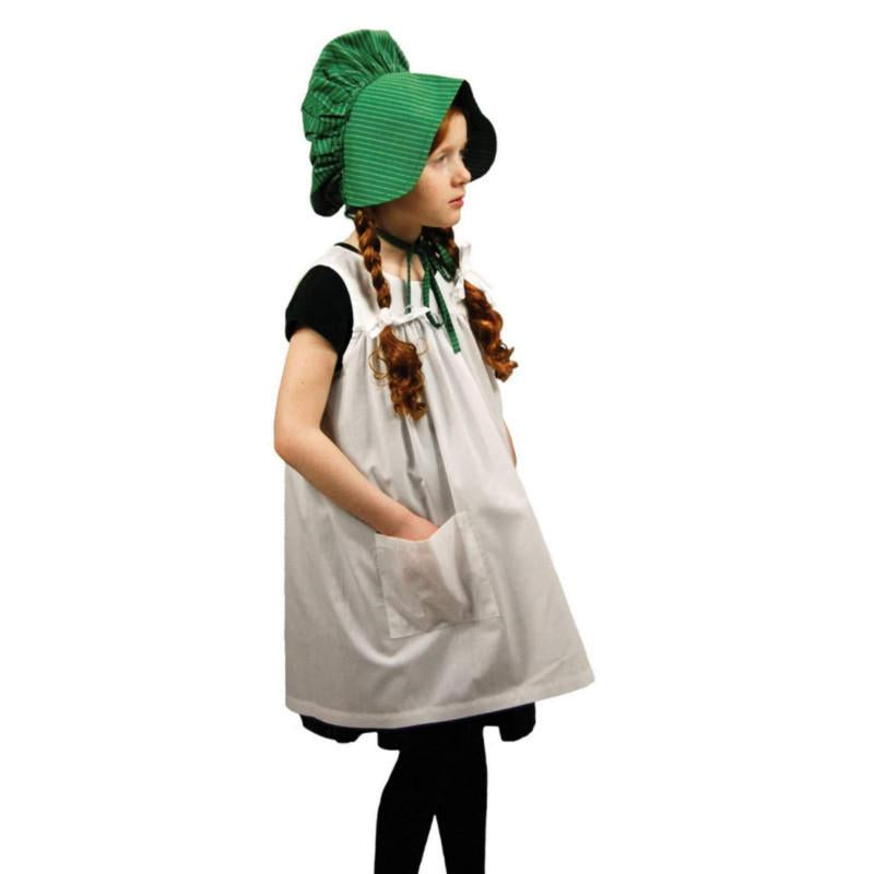 LITTLE HOUSE ON THE PRARIE DOLL OUTFIT AND MATCHING GIRL APRON AND BONNET