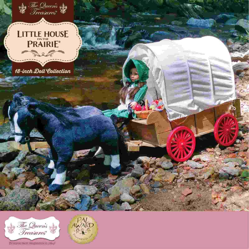 LITTLE HOUSE ON THE PRARIE COVERED WAGON,SLEIGH AND TRUNK.