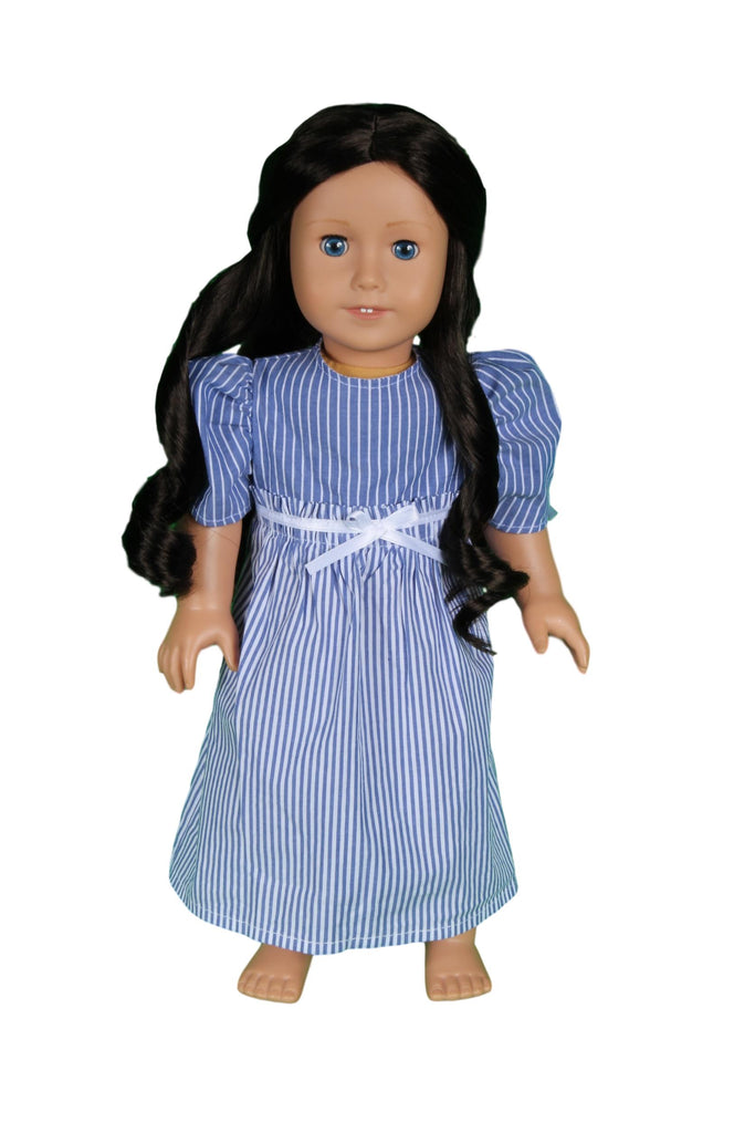 09 Blue and White Striped Cotton Dress