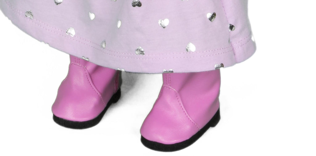 17  Pink Leather-Like Boots