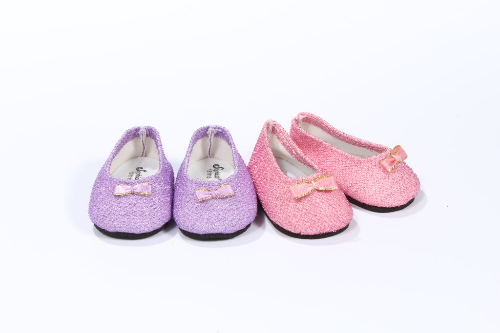 Delicately Sparkled Bow Flats