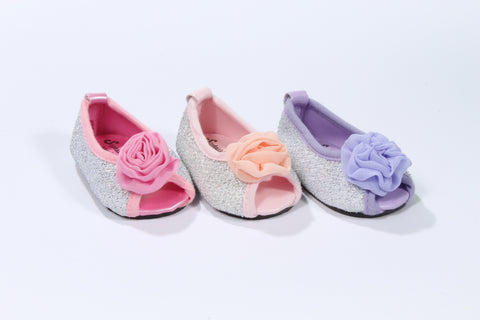 Sparkly Rosette Peep Toe Shoes