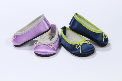 Smooth and Satiny Bow Flats