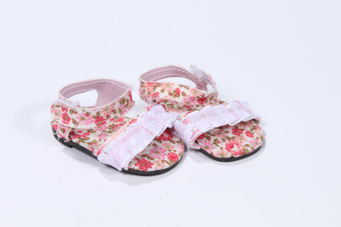 Ruffled Floral Sandals