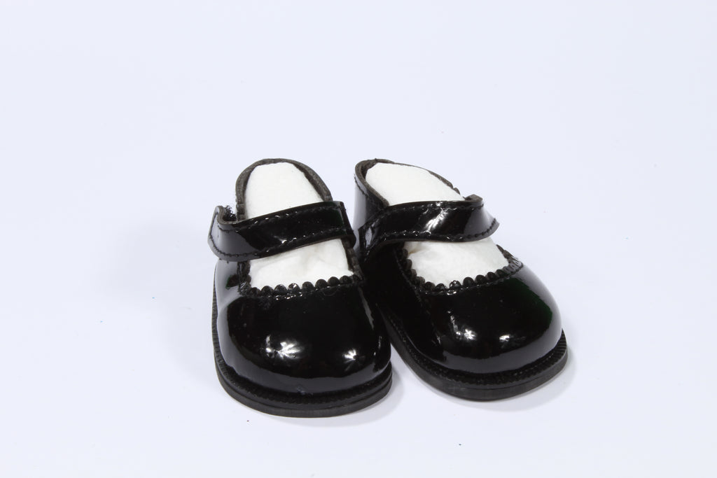 Scalloped Patent Leather Mary Janes
