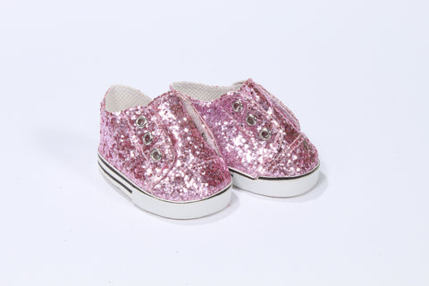 Sparkly Pink No-Tie Sneakers