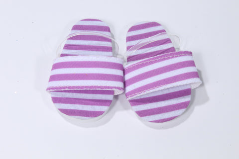 Purple Striped Flip Flops