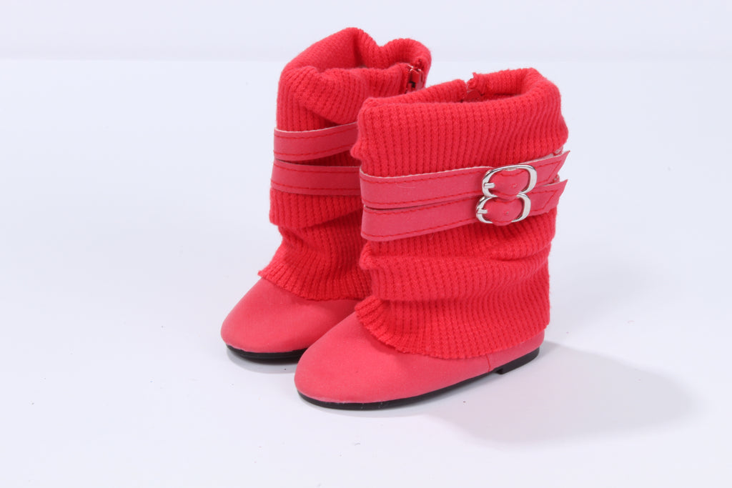 Sylish Red Slouchy Boots