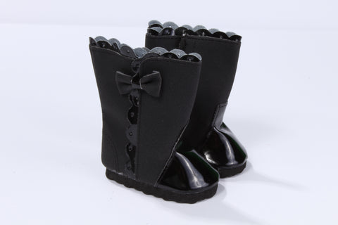 Victorian High-Top Boots with Bow