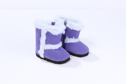 Purple Suede Boots with Sherpa Lining