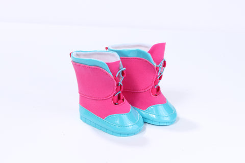 Super Cute Fuchsia and Aqua Snow Boots