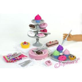 DESSERT AND DISPLAY SET IN DECORATIVE BOX