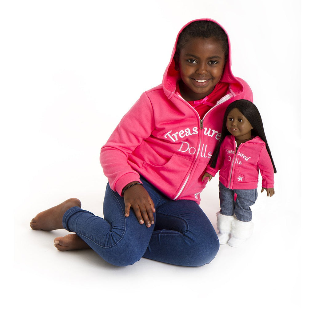 STYLISH MATCHING HOODIES FOR GIRL AND DOLL