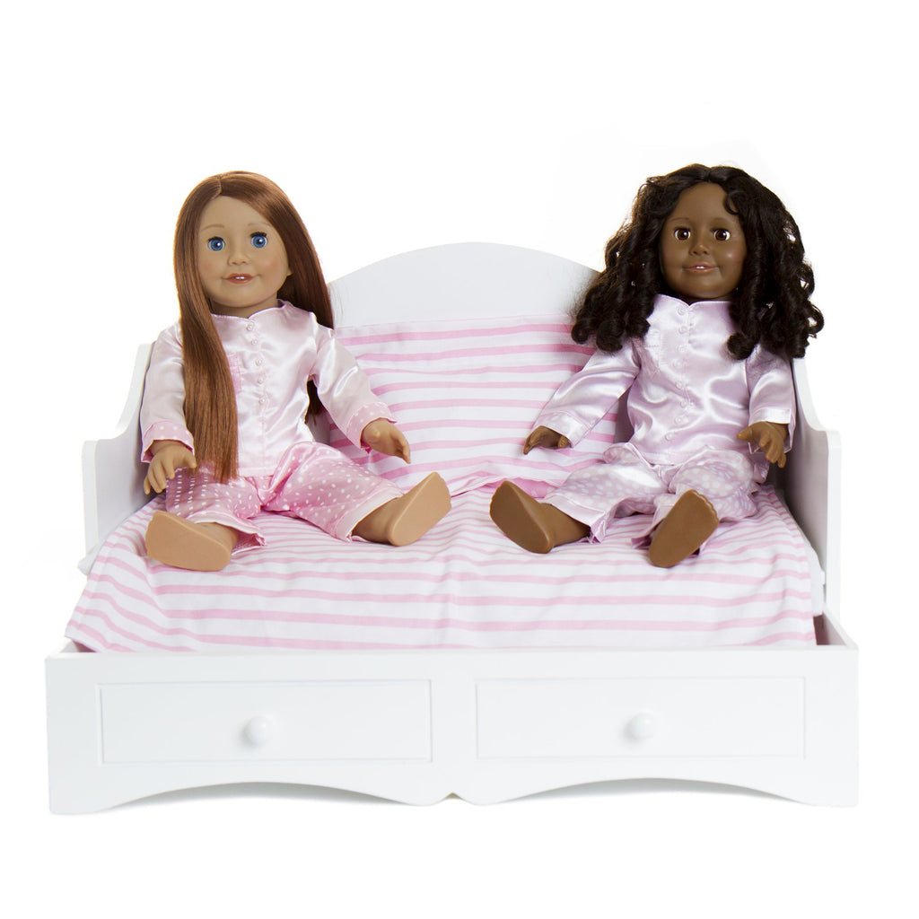 TREASURED DOLL DAYBED WITH PULLOUT TRUNDLE