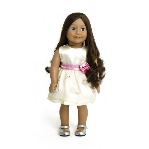 7c4eb6e6dd59 Quick View · CREAM AND PINK ROSES DOLLS DRESS