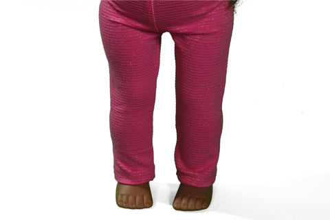 Magenta Sparkle Leggings