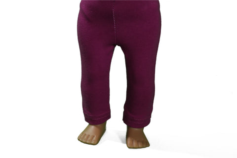 Dark  Red Violet/Purple Leggings