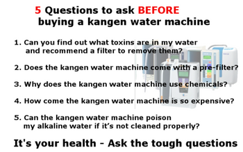 5 Questions to ask BEFORE buying a kangen water machine