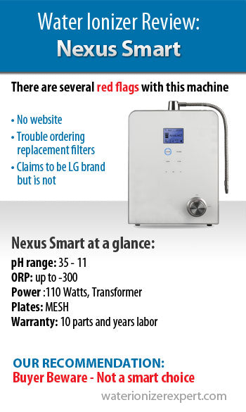 Nexus Smart Water Ionizer: 10 Point Inspection