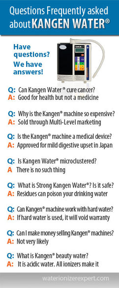 Questions Frequently asked about Kangen Water
