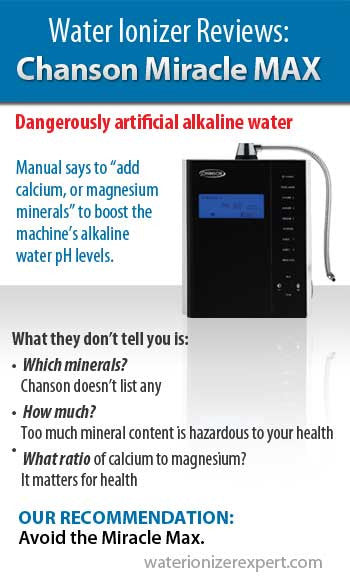 Water Ionizer Reviews: Chanson Miracle MAX