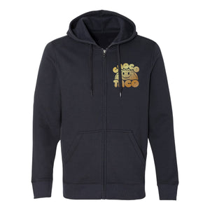 Gold Cat Zip Up Hoodie