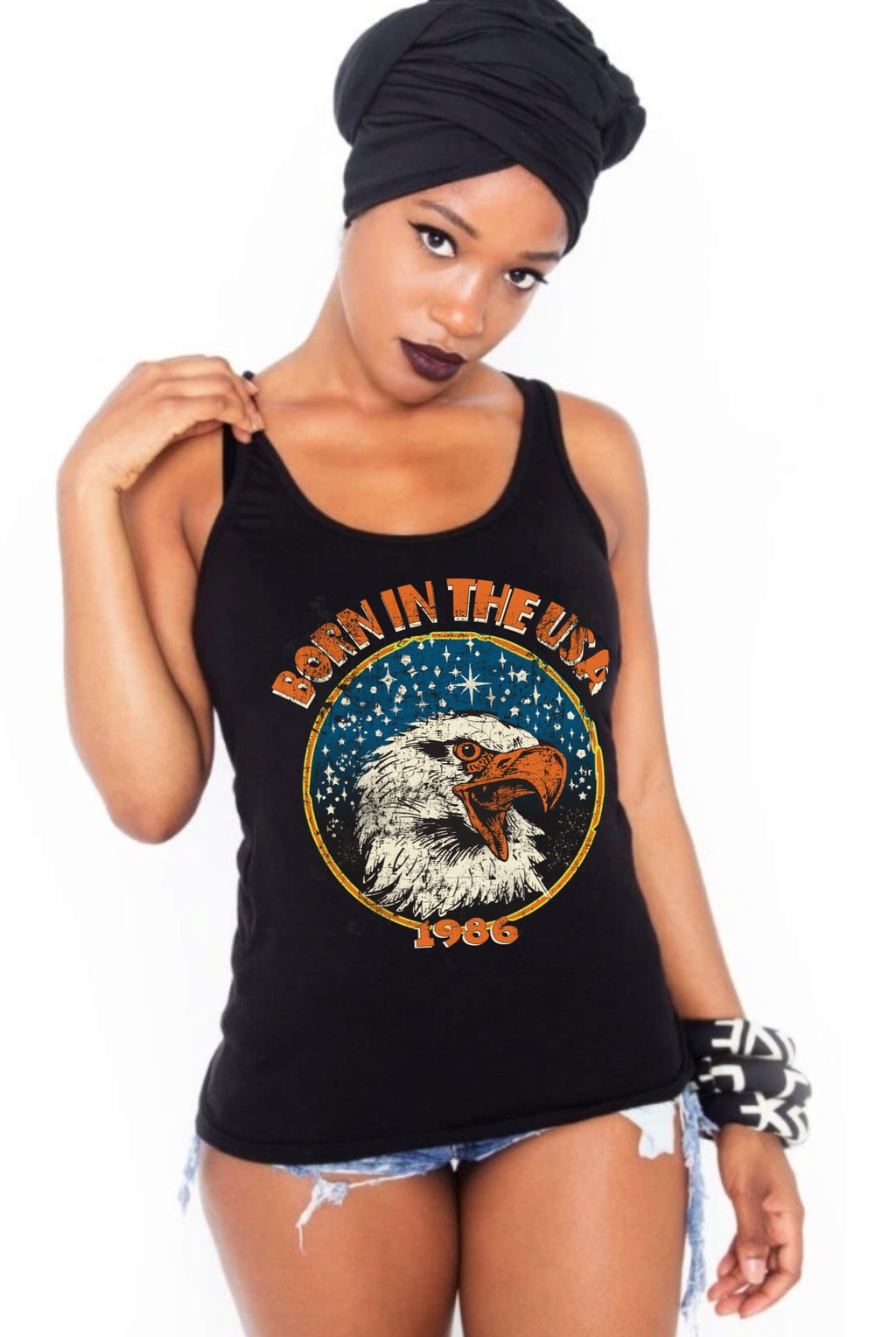 Born in the USA racerback tank top