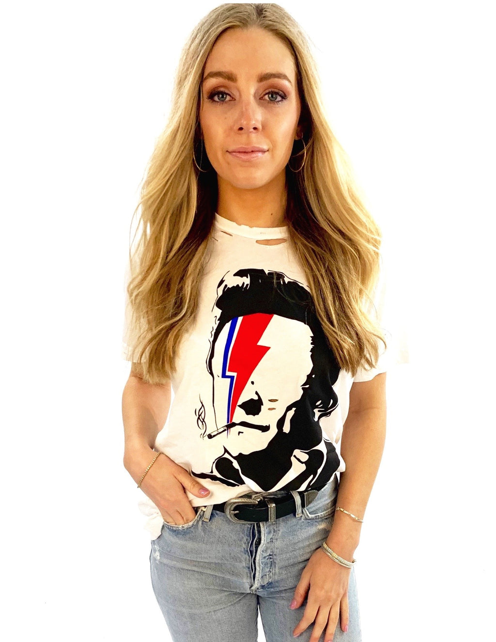 Cash Pop Art Distressed Vintage T-Shirt