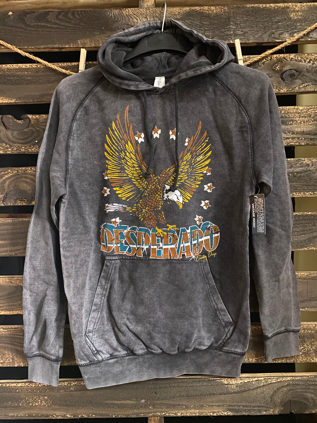 Desperado acid wash Vintage Hooded sweatshirt