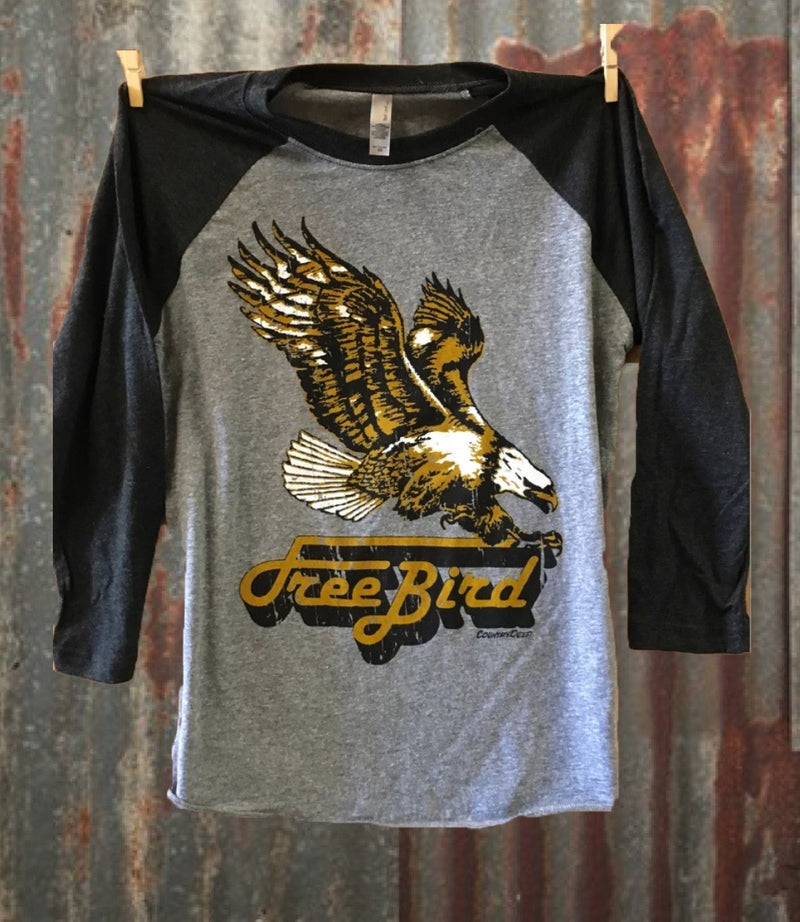Free Bird Baseball T-Shirt