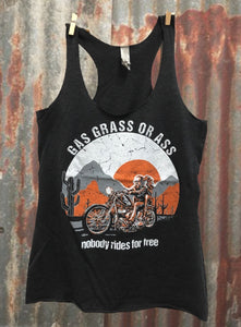 Gas, Grass or Ass, Nobody Rides For Free Tank Top