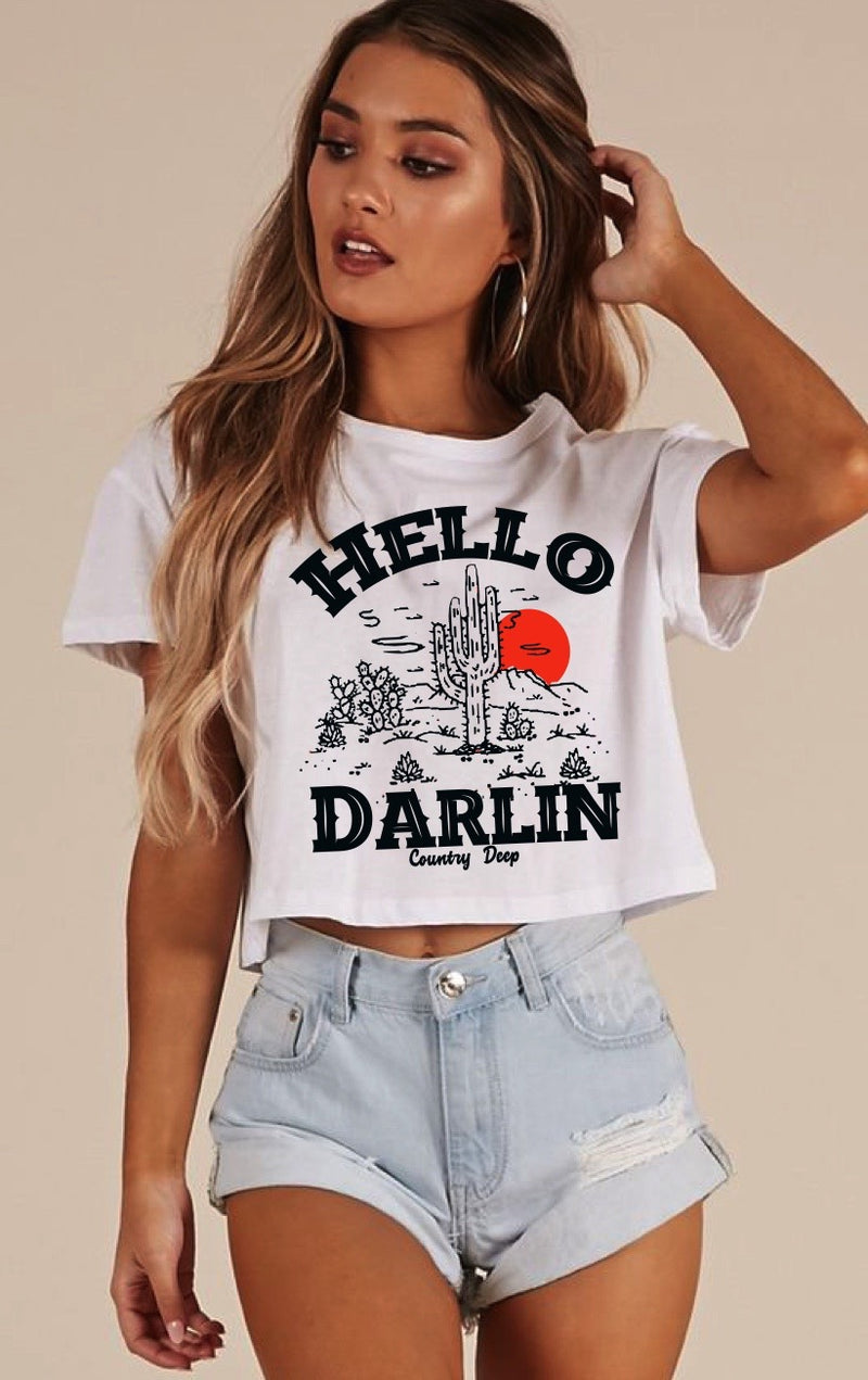Hello Darlin Cropped T-Shirt