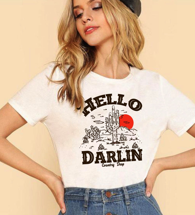 Hello Darlin unisex T shirt