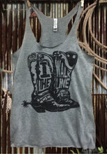 Load image into Gallery viewer, I Walk the line racerback tank top