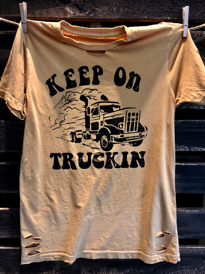 Keep On Truckin Distressed T-Shirt