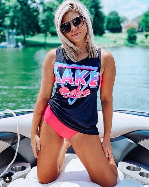 Lake Babe Slub Muscle Tank Top